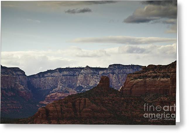 Sedona Landscape Xii Greeting Card by Dave Gordon