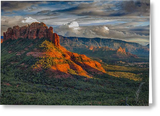 Sedona Magic Greeting Card by Shanna Gillette