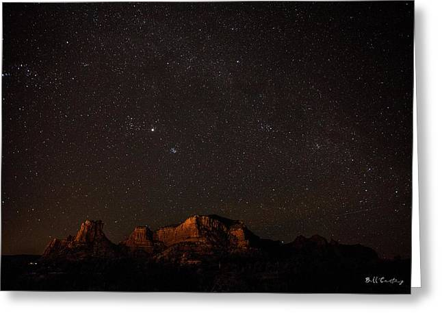 Sedona Milky Way Greeting Card by Bill Cantey