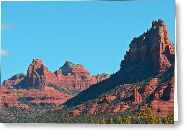 Sedona Panorama Greeting Card by Debby Pueschel