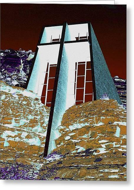 Sedona Rock Church Greeting Card
