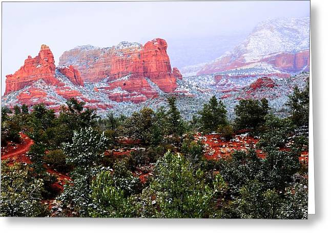 Sedona Snow Greeting Card