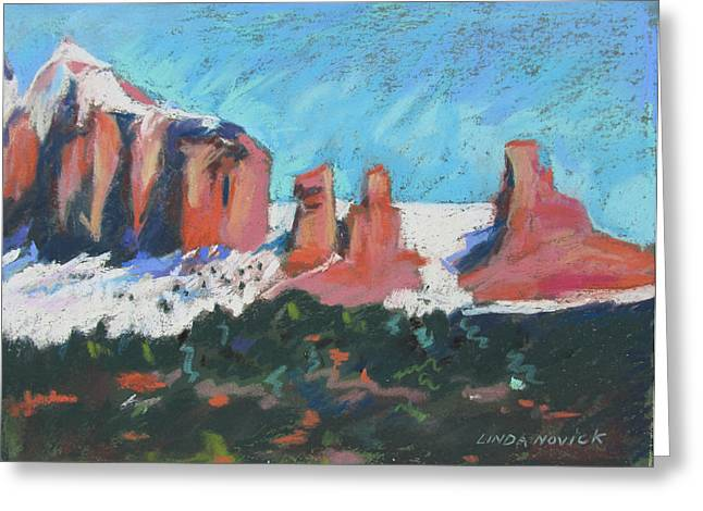 Sedona Snowfall Greeting Card