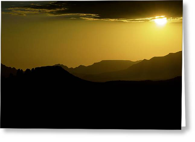 Sedona Sunset Greeting Card by Christian Capucci
