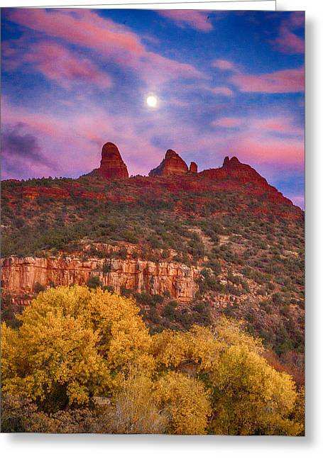 Sedona Sunset Greeting Card by Shanna Gillette