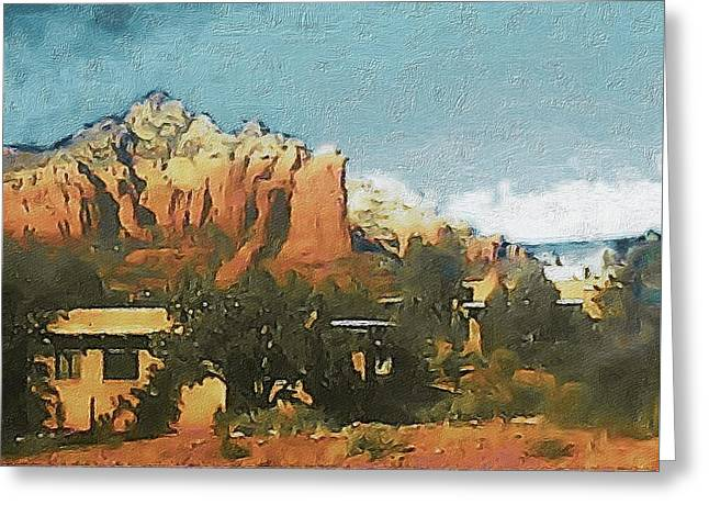 Sedona Greeting Card by Susan Maxwell Schmidt
