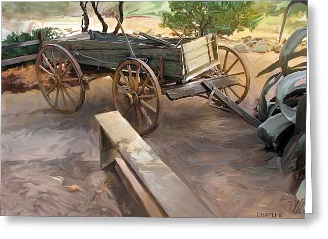 Sedona Wagon Greeting Card