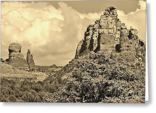 Sedona Greeting Card by William Wyckoff