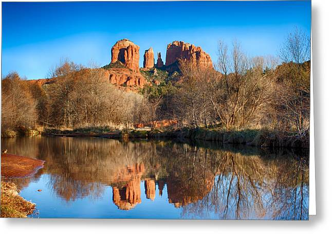 Sedona Winter Reflections Greeting Card