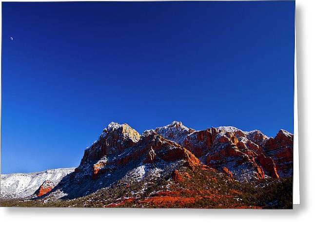 Greeting Card featuring the photograph Sedona Winter by Tom Kelly