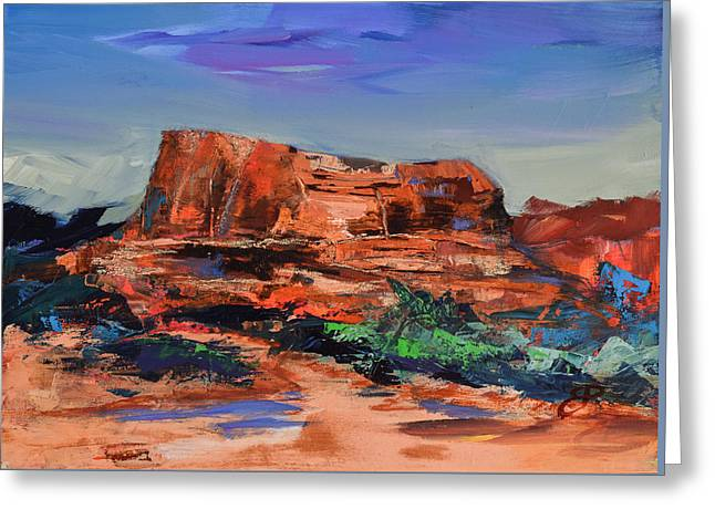 Sedona's Heart Greeting Card by Elise Palmigiani