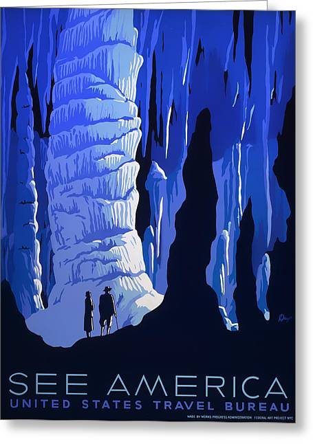 See America 1937 Greeting Card by Mountain Dreams