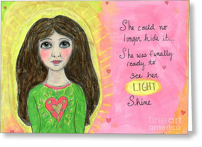 See Her Light Shine Greeting Card