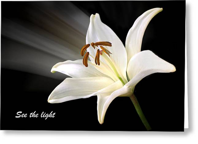 See The Light Greeting Card by Gill Billington