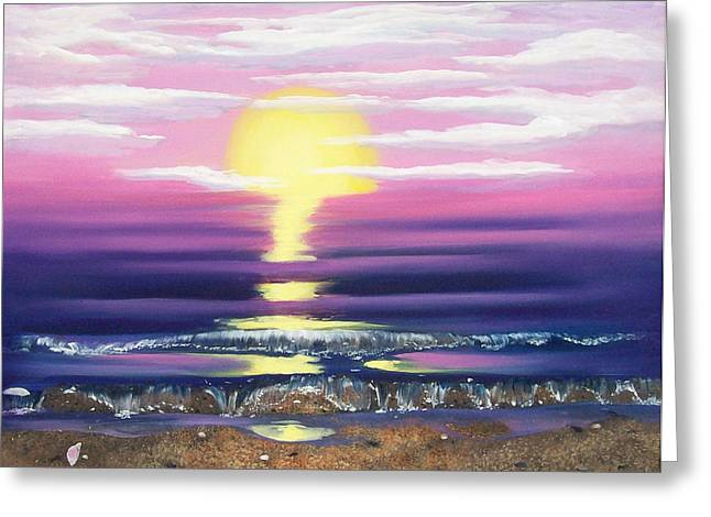 See Through The Sun Is Set Greeting Card by Susan Roberts