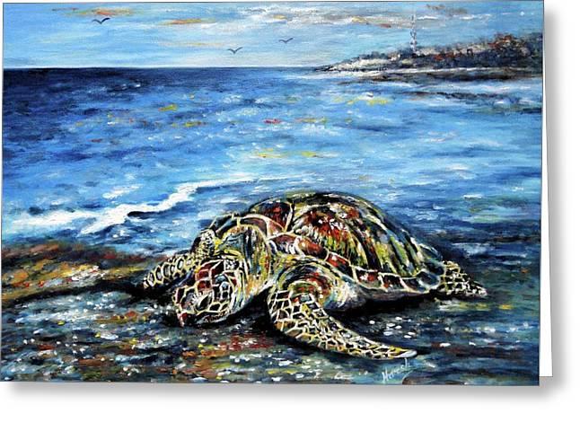 See Weed Turtle Greeting Card