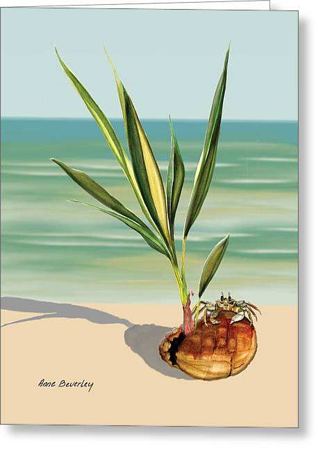 Seedling Floating Ashore Greeting Card