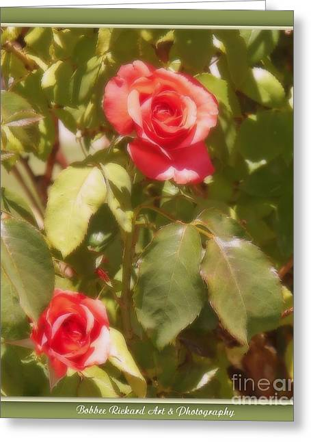 Seeing Double Greeting Card by Bobbee Rickard