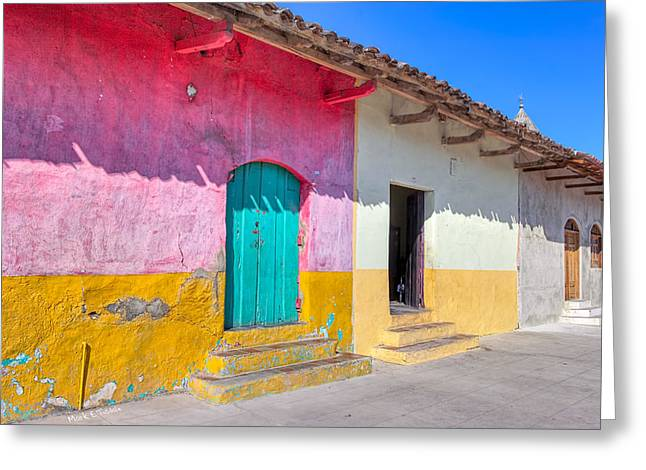 Seeing Pink In Latin America - Granada Greeting Card by Mark E Tisdale