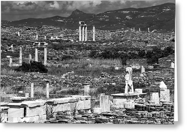 Seeing Ruins On Delos Island Greeting Card by John Rizzuto