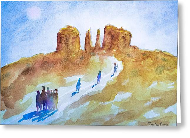 Seekers At Cathedral Rock Greeting Card