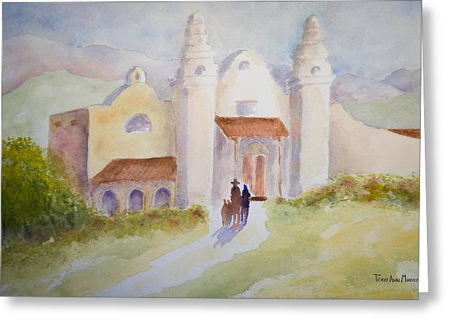 Seekers At The Mission Greeting Card