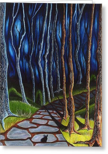 Seeking A Shadow  Greeting Card by Danielle R T Haney