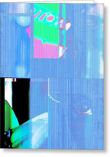 Seeking Encounter Number One  Digital Art By Maria Lankina Greeting Card by Maria  Lankina
