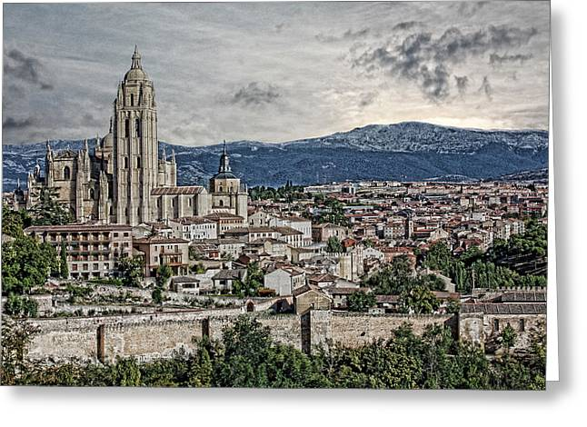 Greeting Card featuring the photograph Segovia by Angel Jesus De la Fuente