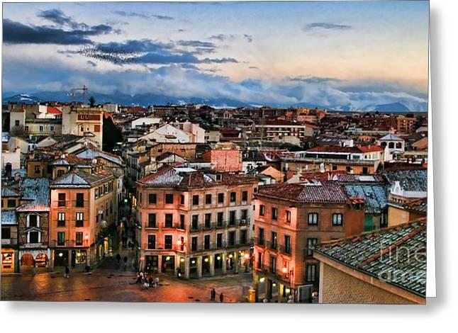 Segovia Nights In Spain By Diana Sainz Greeting Card