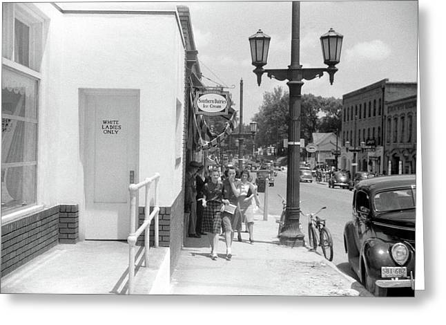 Segregated Entrance, 1940 Greeting Card