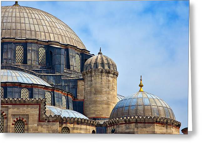 Sehzade Mosque 02 Greeting Card by Antony McAulay