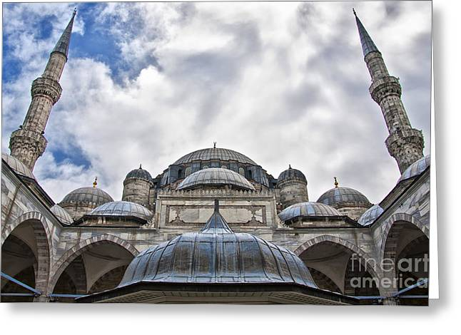Sehzade Mosque 03 Greeting Card by Antony McAulay