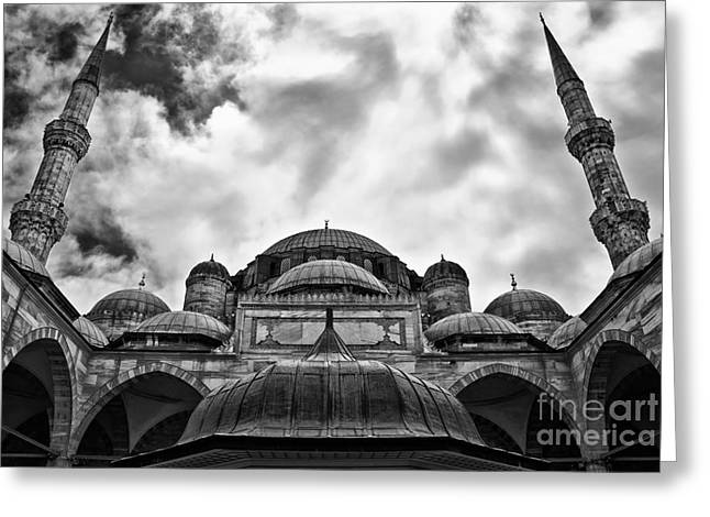 Sehzade Mosque 04 Greeting Card by Antony McAulay