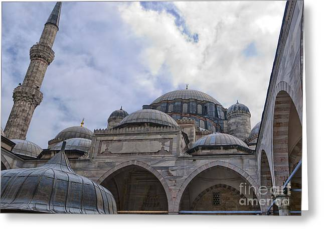 Sehzade Mosque 07 Greeting Card by Antony McAulay