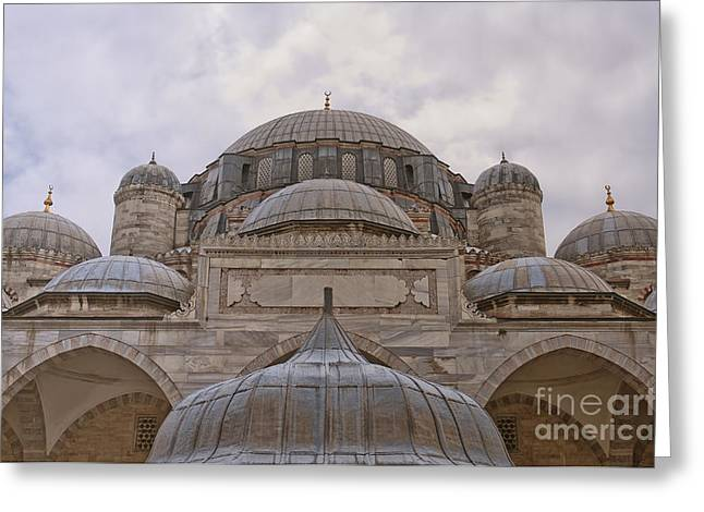 Sehzade Mosque 12 Greeting Card by Antony McAulay