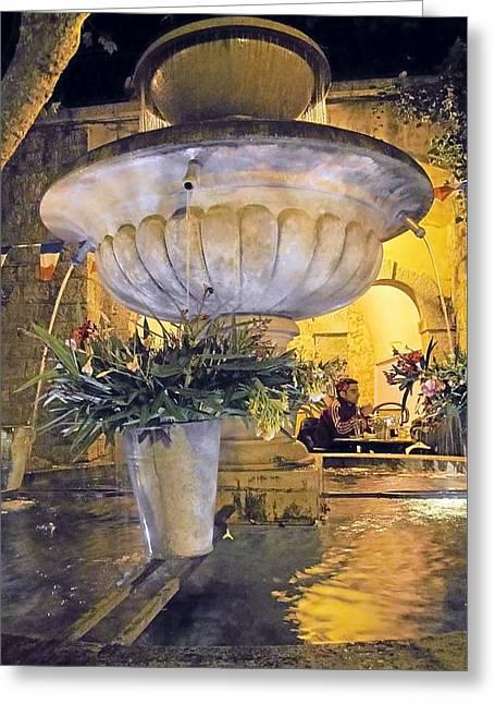 Seillans Village Fountain Greeting Card