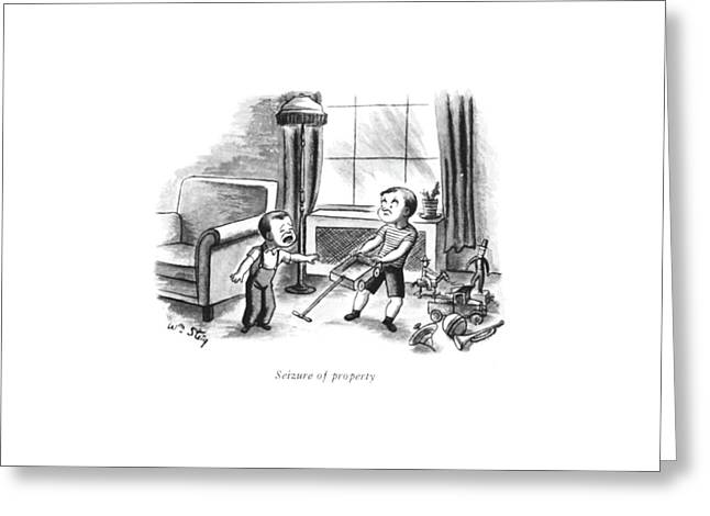 Seizure Of Property Greeting Card by William Steig