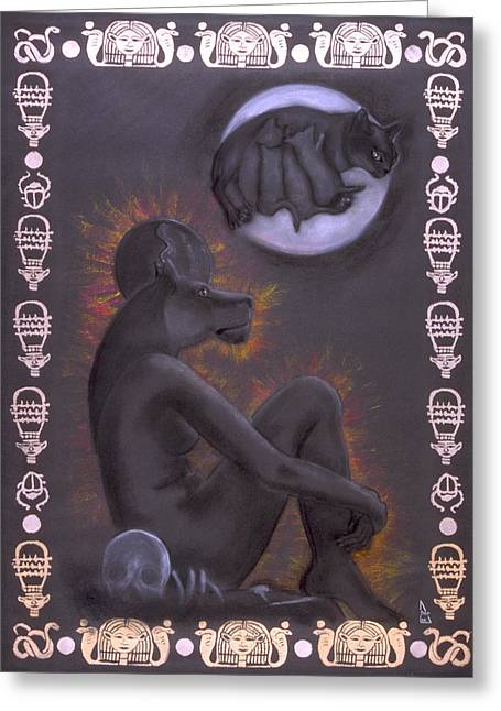 Sekhmet And Bastet Greeting Card