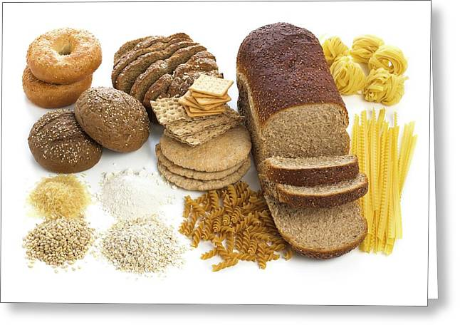 Selection Of Breads And Pastas Greeting Card