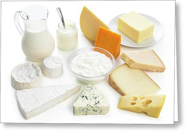 Selection Of Dairy Foods Greeting Card