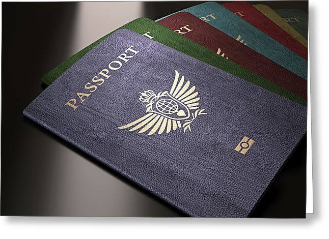 Selection Of Passports Greeting Card