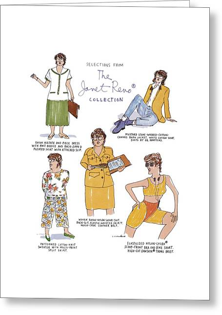 Selections From The Janet Reno� Collection Greeting Card by Michael Crawford