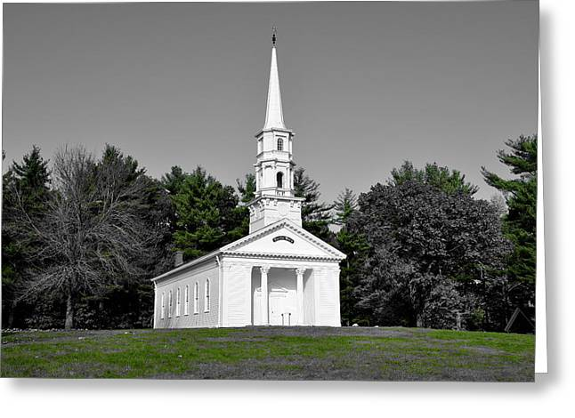 Selective Color Chapel Greeting Card by Brian Mooney