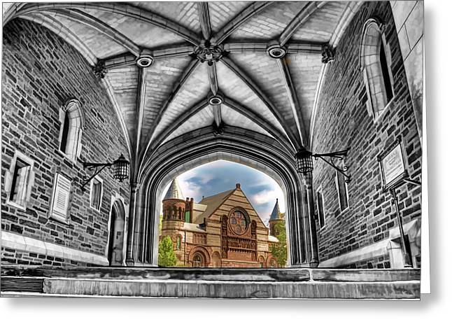 selective colors Princeton University Greeting Card