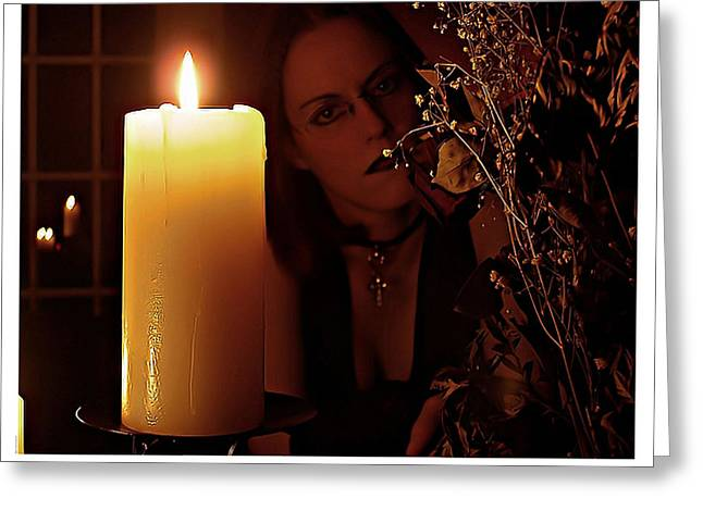 Selena Candle Light And Dead Roses Greeting Card by Matt Nelson