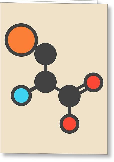 Selenocysteine Amino Acid Molecule Greeting Card by Molekuul