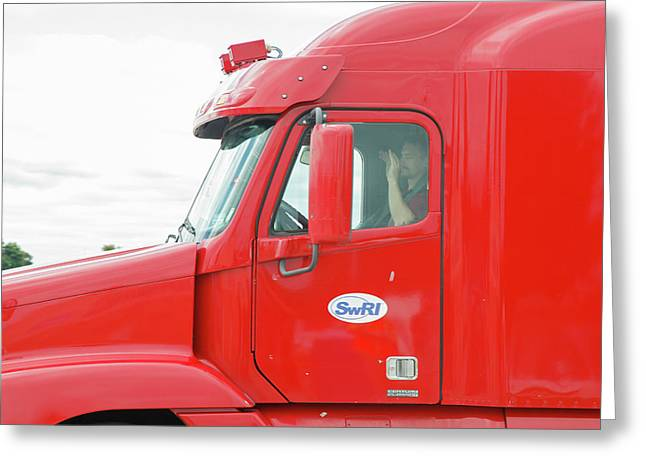 Self-driving Truck Greeting Card by Jim West