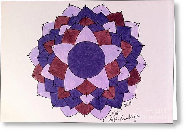 Self Knowledge  Greeting Card by Melissa Darnell Glowacki