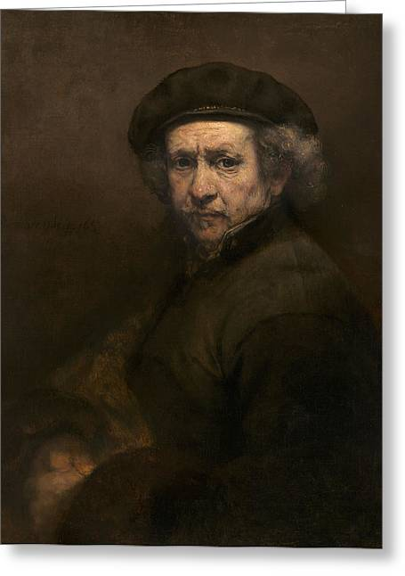 Self-portrait, 1659 Oil On Canvas Greeting Card